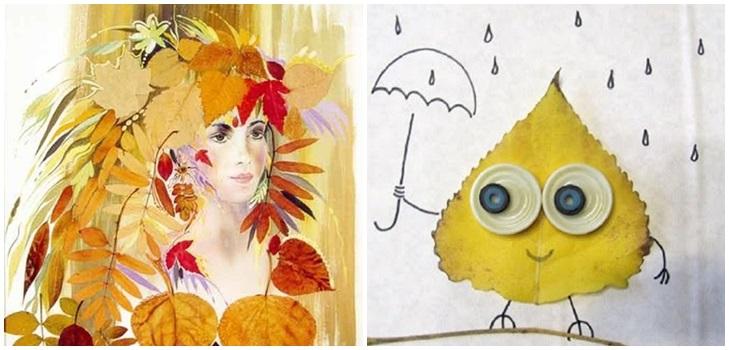 kartinki-iz-listev Картины из листьев и цветов своими руками для детского сада и школы