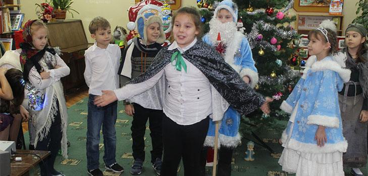 Новогоднее поздравление сценка для школьников фото 535