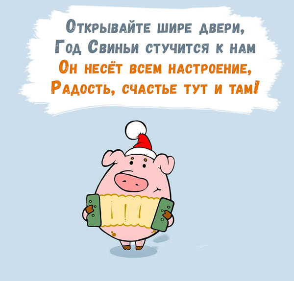 Смс шуточные поздравления с годом свиньи