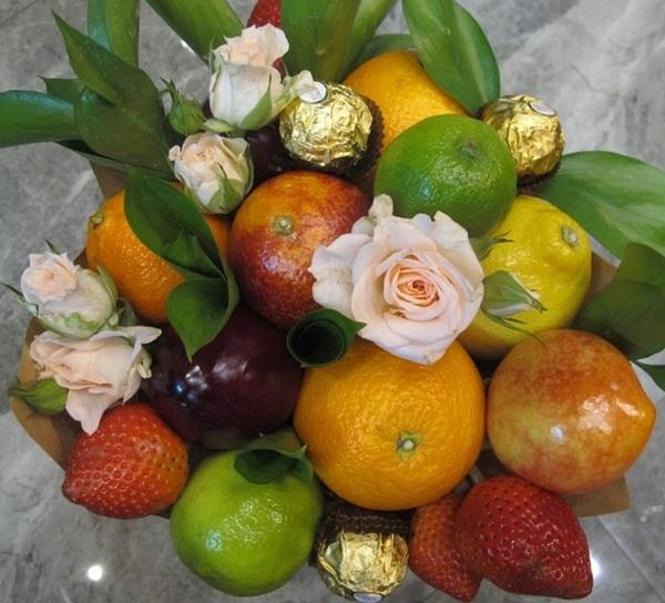 фруктово конфетный букет своими руками пошаговое фото готовые