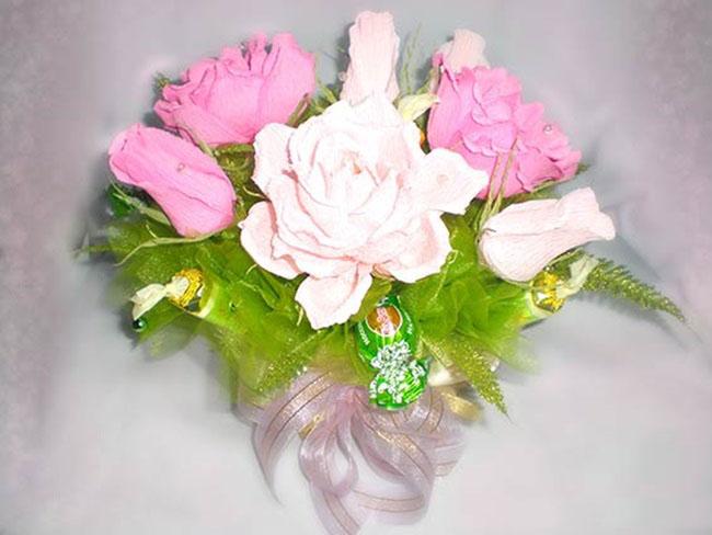 Букеты из конфет из роз своими руками мастер класс фото 790