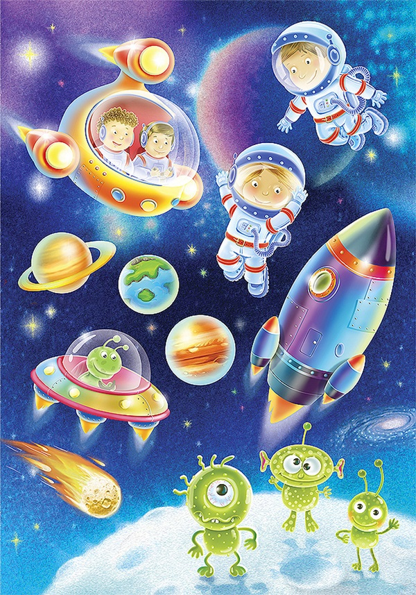Днем, картинки на день космонавтики для детей
