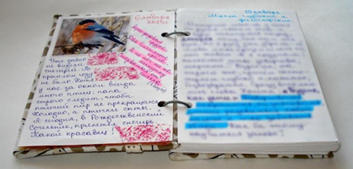 Как сделать свой дневник 350
