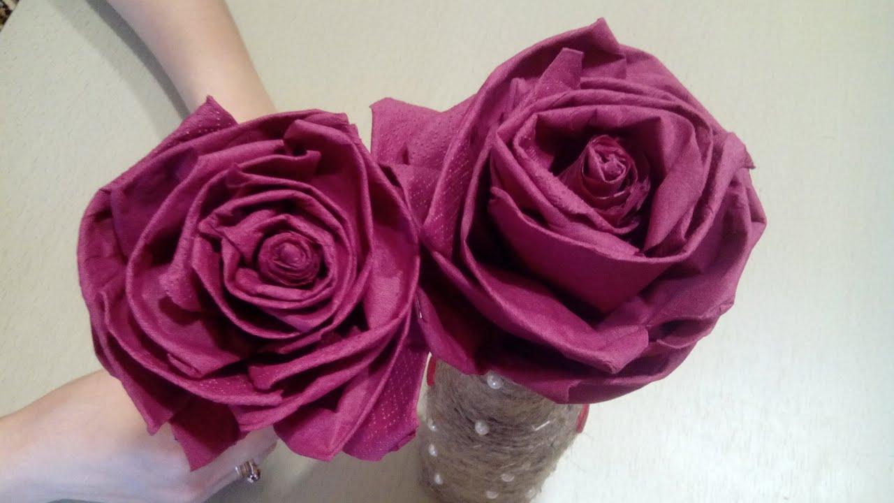 Пошаговая инструкция цветы из салфеток своими руками фото 600