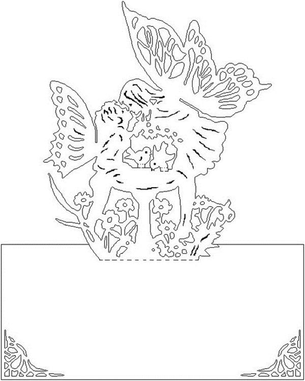 Шаблоны для объемных открыток с 8 марта, февраля детям дошкольного