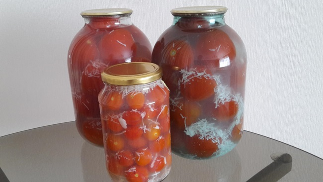 Новогодняя закуска Снежные помидоры - рецепт пошаговый с фото