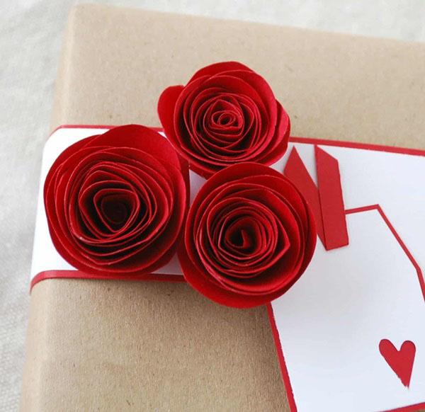 Зерен, открытка роза из бумаги своими руками